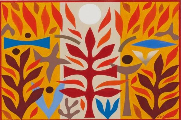 Maquette for tapestry 'Resurrection' 1986 John Coburn